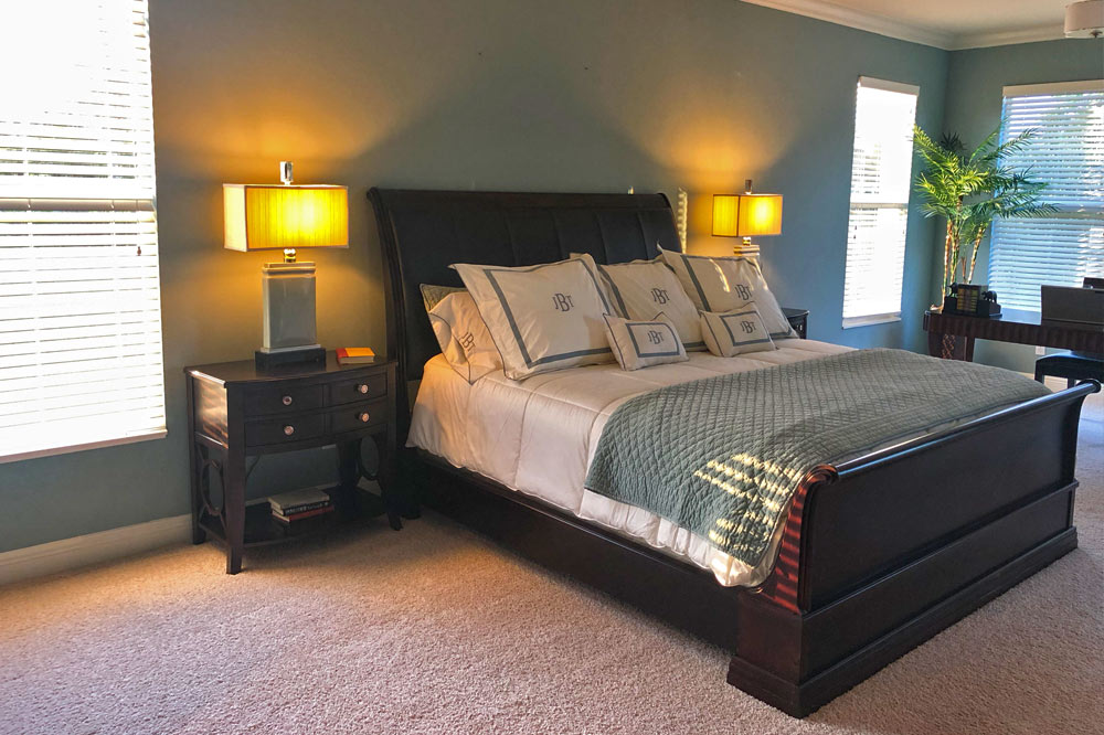 New Treasure Coast home master bedroom