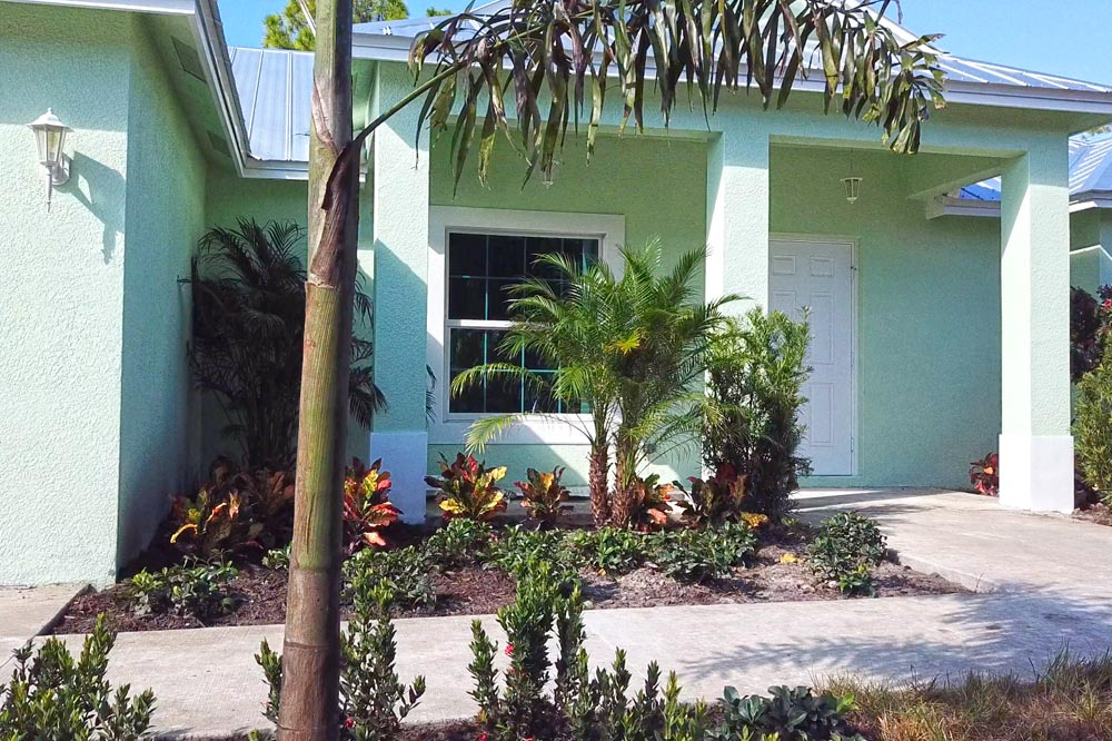 Exterior of Port St Lucie new home