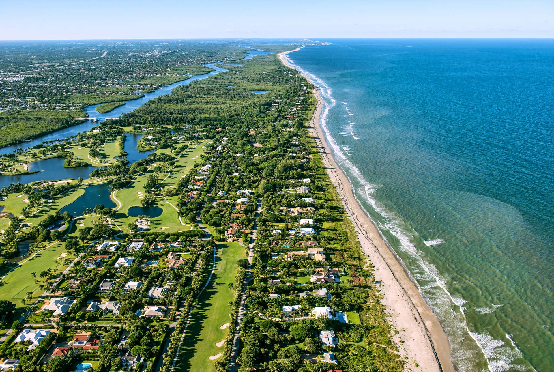 South Florida golf and ocean
