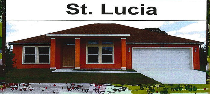 St Lucia model home