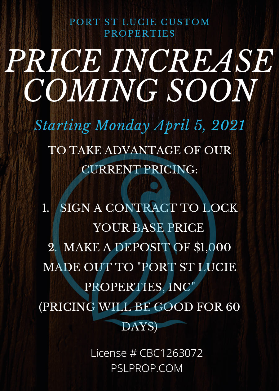 price increase flyer